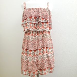 NWT Hollister Boho Tiered Sleeveless Dress D14